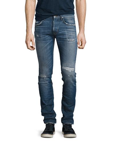Axl Rip & Repair Skinny Jeans, Blue