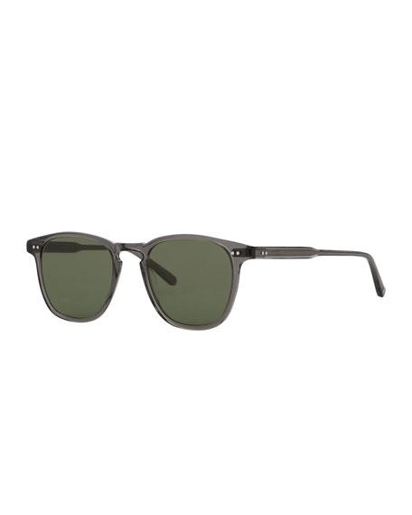Garrett Leight Brooks 47 Square Sunglasses, Gray Crystal