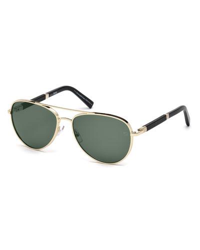 00b62335ac3 Quick Look. Ermenegildo Zegna · Metal Aviator Sunglasses