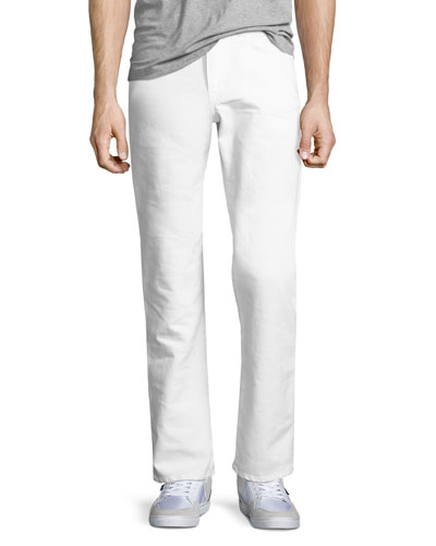 Brixton Kinetic Denim Slim-Straight Jeans, Ronan (White)