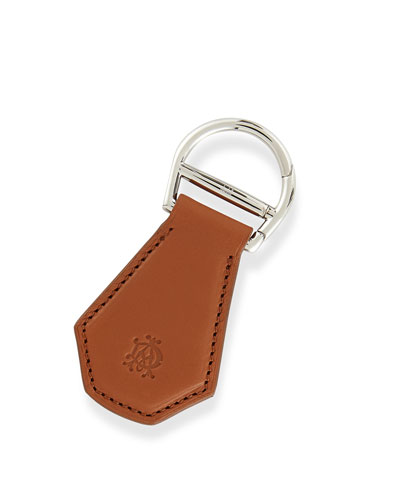 Dunhill Signature Leather Key Chain, Green