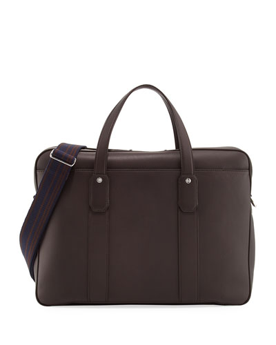 Hampstead Leather Document Briefcase, Brown