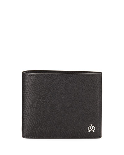 Cadogan Leather Bi-Fold Wallet, Black