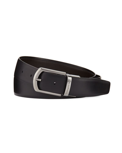 Reversible Smooth Calf Leather Belt
