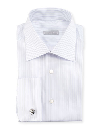Striped French-Cuff Dress Shirt