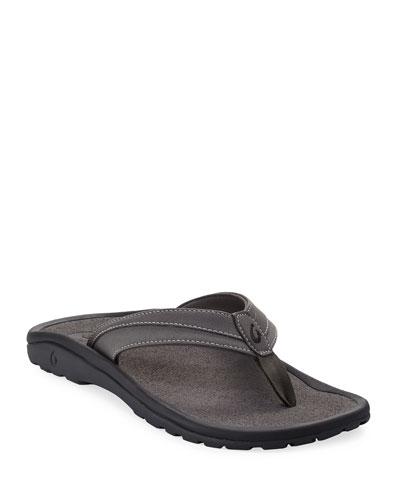 ʻOhana Koa Thong Sandal, Gray