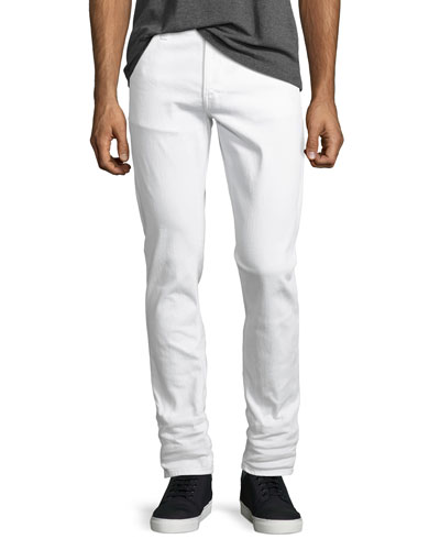 Lean Dean Stretch-Denim Skinny Jeans, White