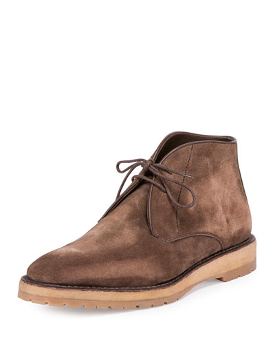 Suede Ankle Boot, Brown