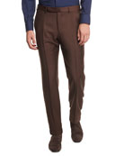 Ermenegildo Zegna High Performance Trofeo� Wool Trousers, Rust