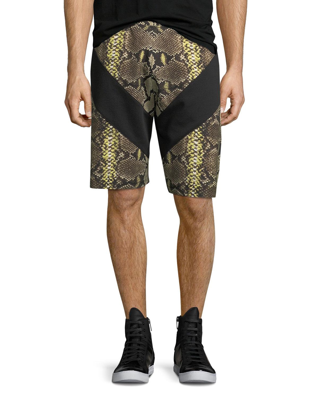 Python-Print Cotton Shorts