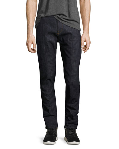 Lanc 3D Raw Tapered Jeans, Blue
