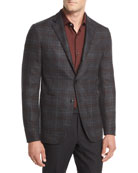 Ermenegildo Zegna Wool Plaid Two-Button Blazer