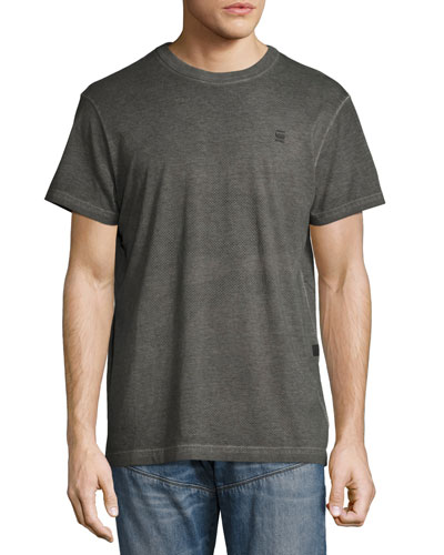 Dotted Camo Cotton T-Shirt, Black/Gray