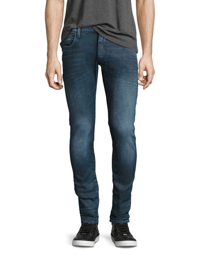 3301 Deconstructed Super-Slim Jeans, Loomer Blue