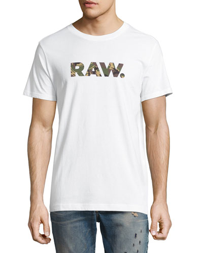 Camo RAW Logo T-Shirt, White