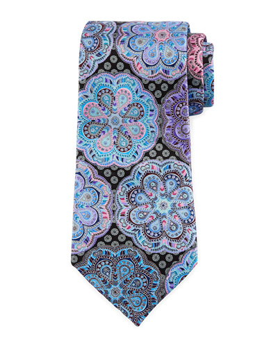 Quindici Flower Medallion Tie