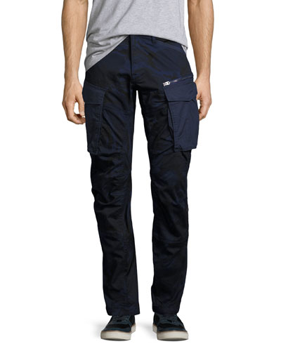 Rovic 3D Tapered Cargo Pants, Blue Camo