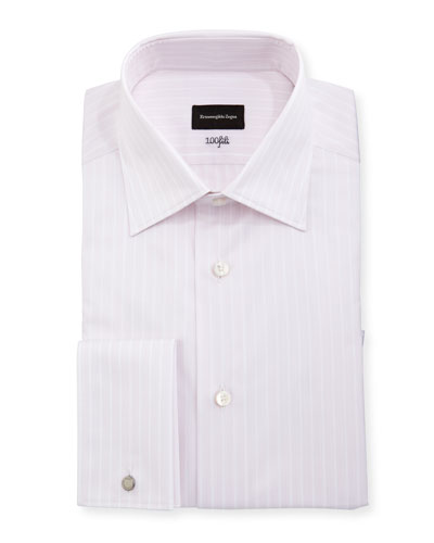 100Fili Striped Dress Shirt