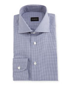 Micro-Gingham Cotton Dress Shirt