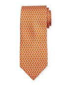 Dog-Print Silk Twill Tie