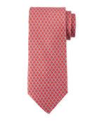 Lasso Gancio Silk Twill Tie, Red