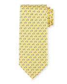 Race Car Silk Tie, Yellow