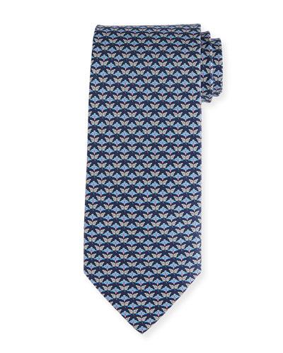 Butterfly Silk Twill Tie