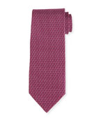 Two-Tone Gancio Silk Tie, Purple