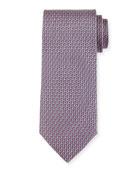 Gancio Silk Tie, Gray