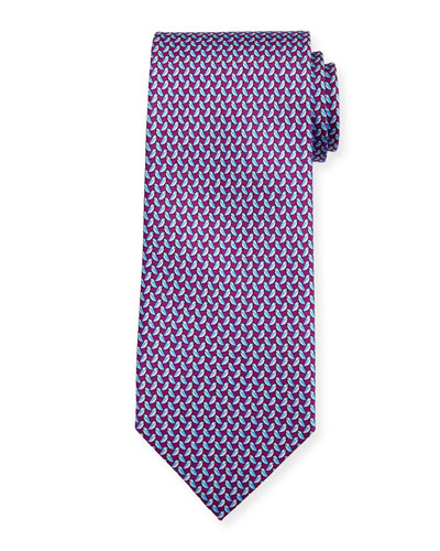 Diama Bird-Print Tie
