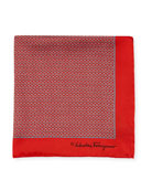 Gancini Silk Twill Pocket Square