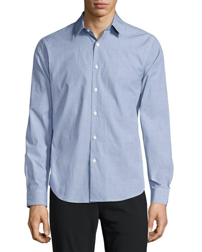 Sylvain C. Combo Check Sport Shirt, Blue