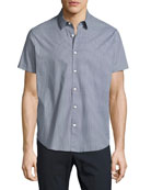 Zack S. Cube-Print Short-Sleeve Sport Shirt, Navy