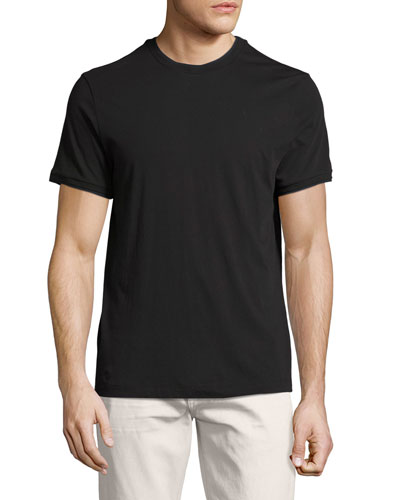 Rylee Pima Cotton Double-Edge T-Shirt