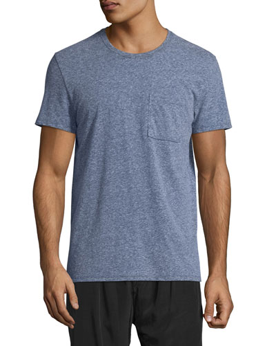 Mélange Jersey Pocket T-Shirt, Dark Blue