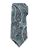 Paisley Silk Jacquard Tie, Blue