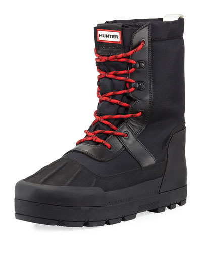 Men's Nylon & Leather Snow Boot