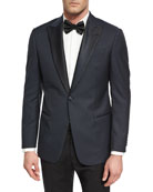 G Line Jacquard Dinner Jacket, Navy