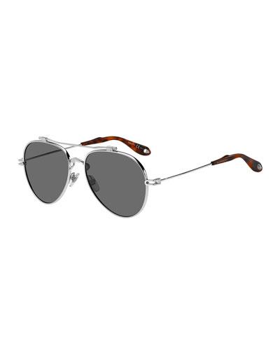 5b7f4be856 Quick Look. Givenchy · Men s GV 7057 Aviator Sunglasses ...