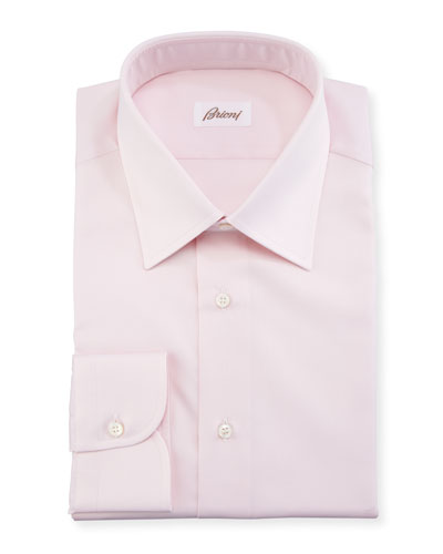 Textured Solid Cotton Dress Shirt