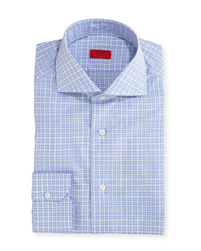 Unconventional Check Cotton Dress Shirt