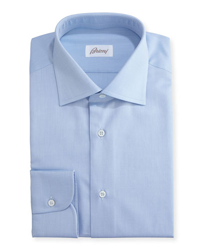 Textured Micro-Diamond Dress Shirt, Blue