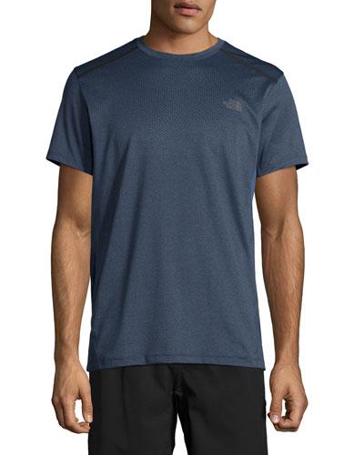 Kilowatt Short-Sleeve Crewneck Active T-Shirt, Gray