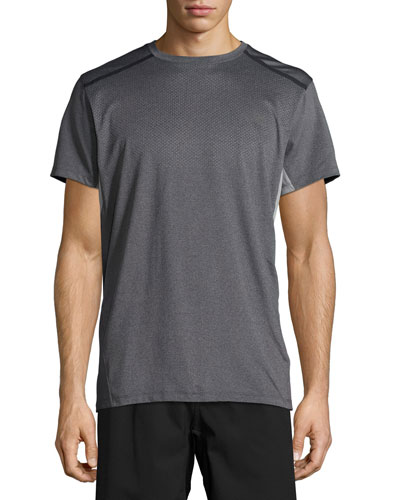 Kilowatt Short-Sleeve Crewneck Active T-Shirt, Gray