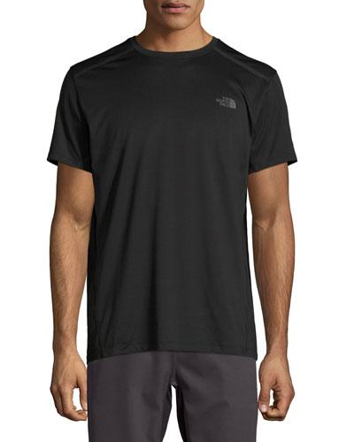Kilowatt Short-Sleeve Crewneck Active T-Shirt, Black