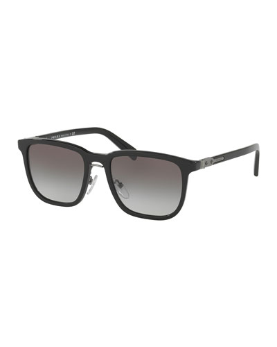 Redux Men's Square Acetate Sunglasses, Black