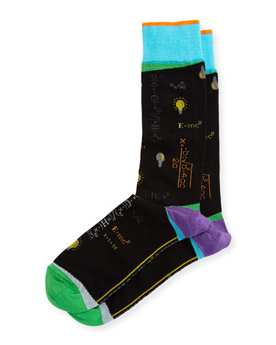 Absolute Genius Science Socks, Blue