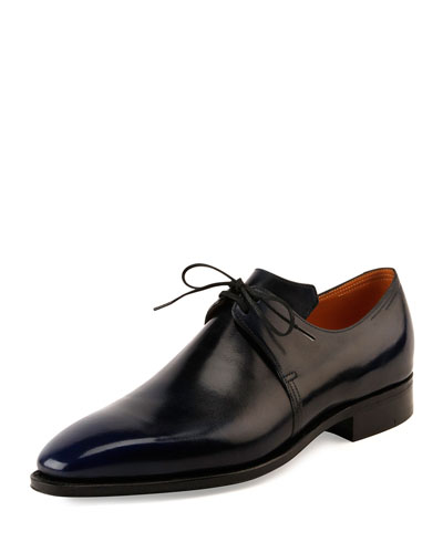 Arca Leather Derby Shoe w/Dark Blue Patina