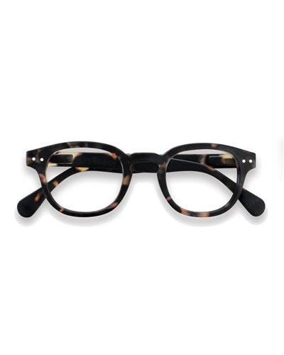 Shape #C Reading Eyeglasses, Brown Tortoiseshell