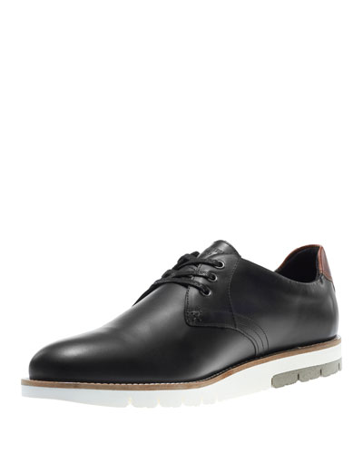 Reuben Lugged-Sole Oxford Shoe, Black